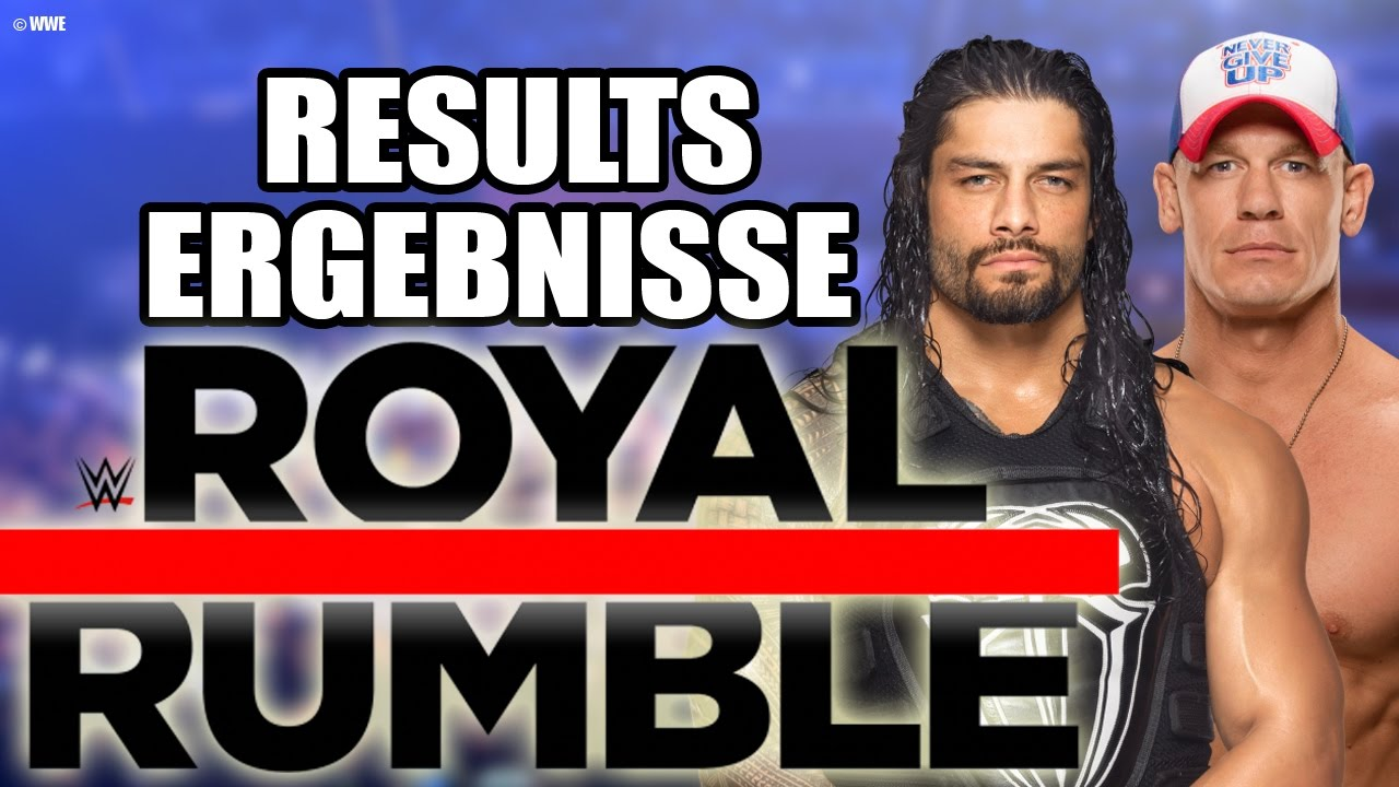 Greatest Royal Rumble Ergebnisse
